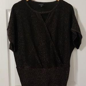 Sparkly short sleeve blouse